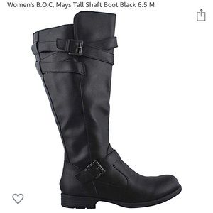 Women's black riding boots